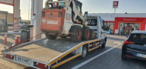 transport pompe sapa bobcat remorci